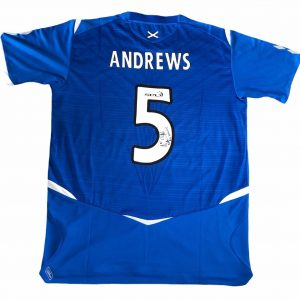 Rangers FC Shirt signed by Marvin Andrews rear