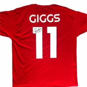 Ryan Giggs signed tshirt number 11 Manchester United legend