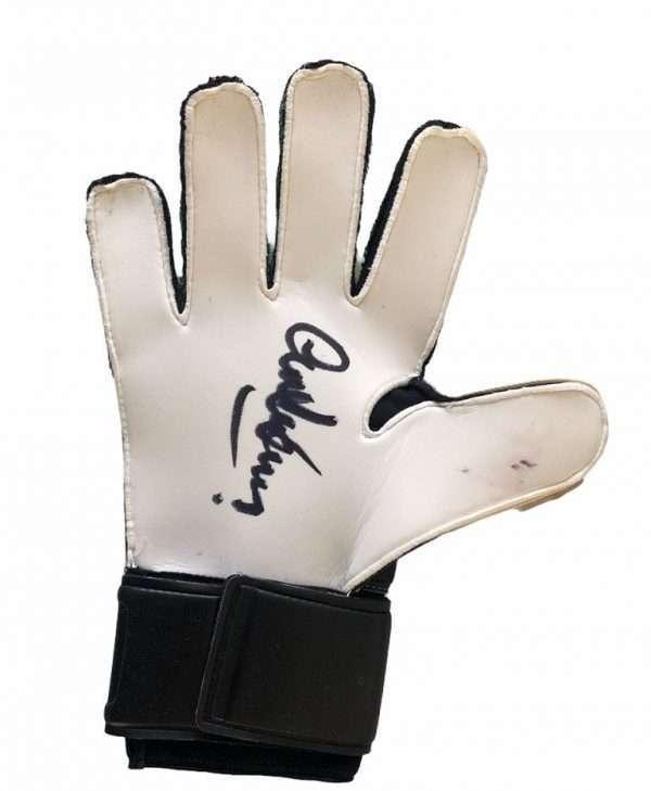 Alex Stepney Goalkeeper signed glove Manchester United 2