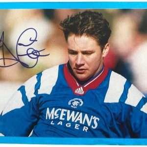 Ally McCoist signed photo Rangers FC magazine page