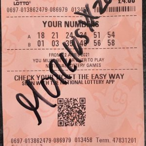 Alfredo Morelos signed autograph Rangers FC Lottery ticket