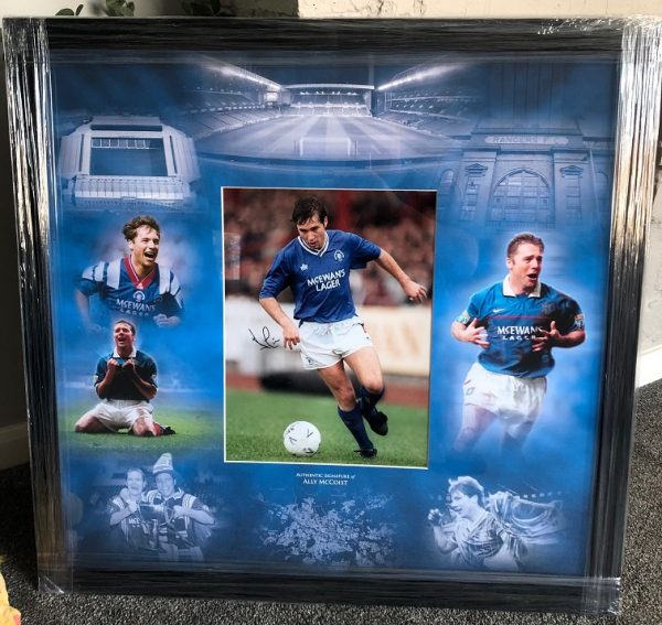 Ally McCoist signed Rangers FC Photograph montage display