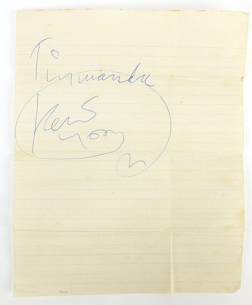 Keith Moon authentic Autograph for sale The Who drummer Memorabilia