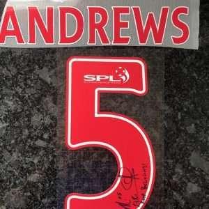 Marvin Andrews signed shirt number Rangers FC
