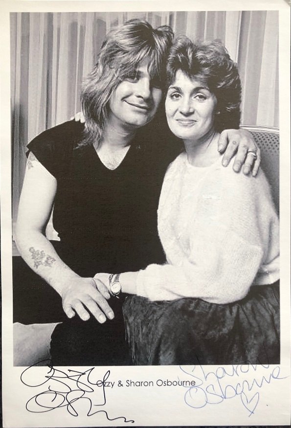 Ozzy Osbourne Sharon Osbourne signed promo photograph