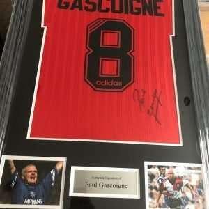 Paul Gascoigne Rangers Autograph for sale signed Shirt