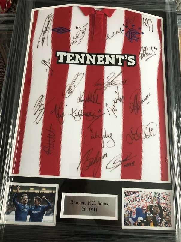 Rangers Football Club Signed squad shirt season 2011 2012