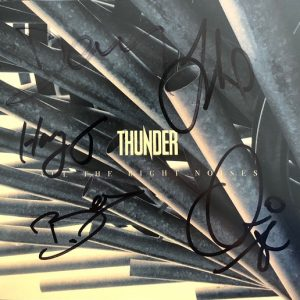 Thunder signed CD Cover All the right noises Limited Edition