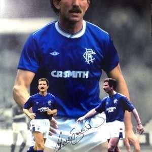 """Graeme Souness Autographed Rangers FC Photograph 16x12"""""""