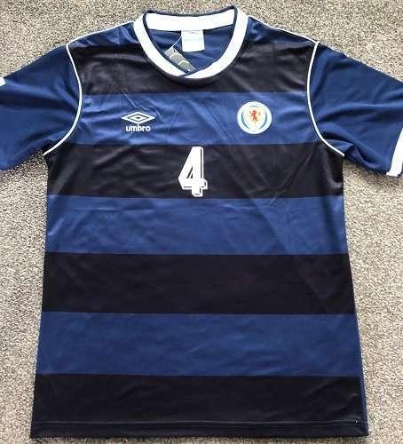 Graeme Souness Scotland FC Shirt Autographed strip