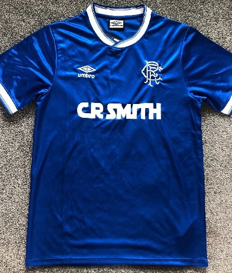 Graeme Souness signed football shirt Glasgow Rangers FC