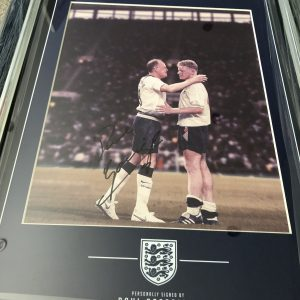 Paul Gascoigne signed Spurs photograph custom framed