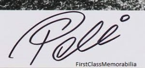 Pele signed autograph