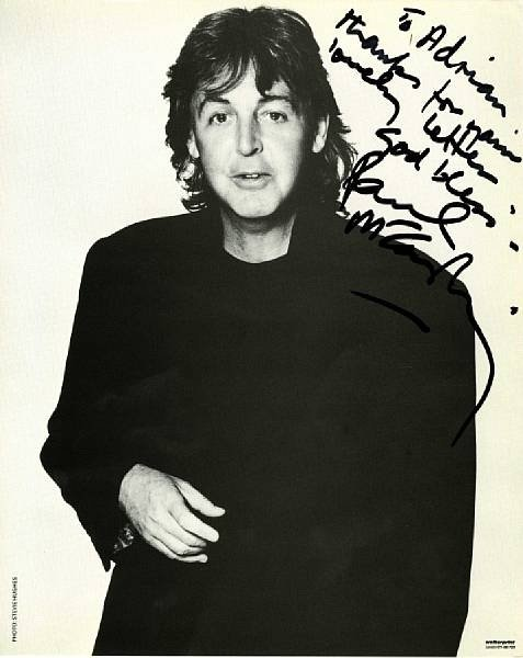 Paul McCartney signed photograph The Beatles 8x10