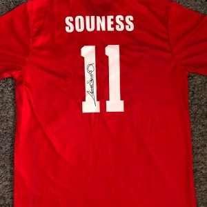 Graeme Souness Liverpool autographed football shirt