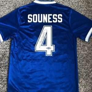Graeme Souness autograph Rangers Football Club shirt