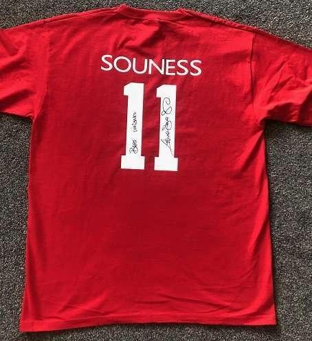 Graeme Souness autographed signed tshirt Liverpool football club