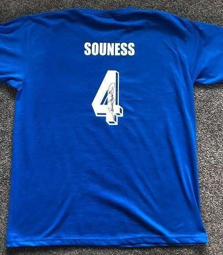Graeme Souness signed football tshirt number 4 Rangers