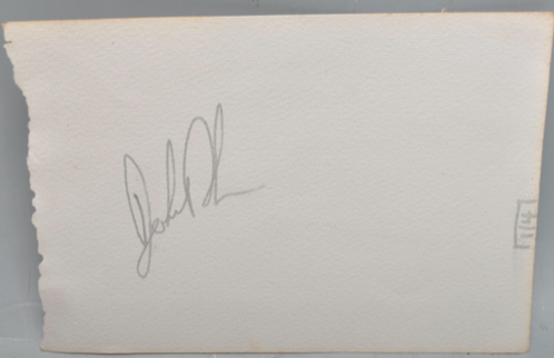John Bonham Original Autograph Led Zeppelin Legendary Drummer