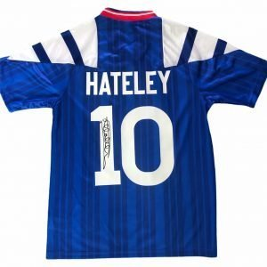 Mark Hateley Autograph Rangers home shirt 92-94 [Rear]