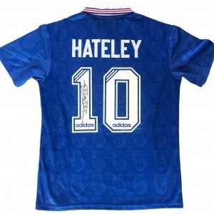 Mark Hateley Rangers autograph football shirt 96-97
