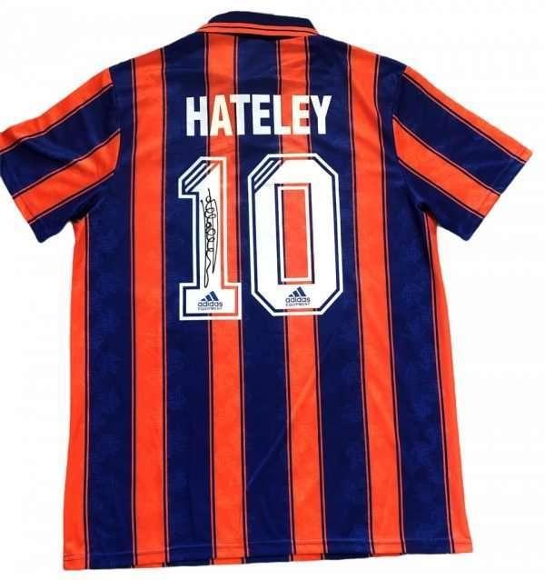 Mark Hateley autographed shirt Rangers away 93-94