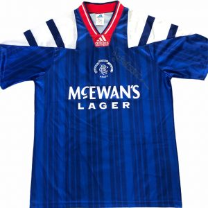 Mark Hateley signed Glasgow Rangers home shirt 92-94 [front]