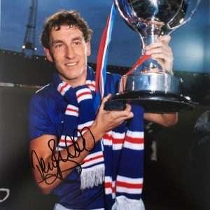 Terry Butcher Autograph Signed Rangers 8x10 1