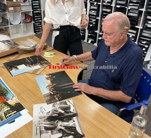 John Cleese signing autographs 5