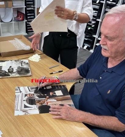 John Cleese signing autographs 6