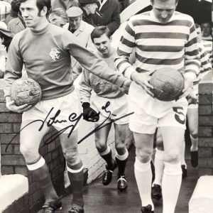 John Greig Signed Glasgow Rangers FC photograph 8x12 2
