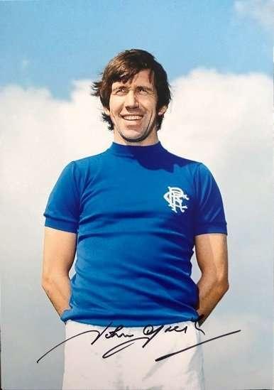 John Greig Signed Glasgow Rangers FC photograph 8x12 3