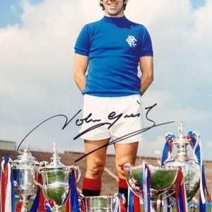 John Greig Signed Glasgow Rangers FC photograph 8x12 4