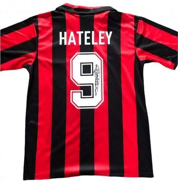 Mark Hateley signed Attila AC Milan football shirt autograph