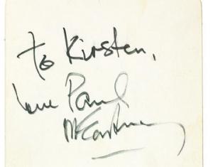 Paul McCartney 1964 autograph