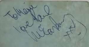 Paul McCartney autograph 1962