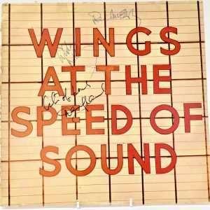 Paul McCartney autographed wings album