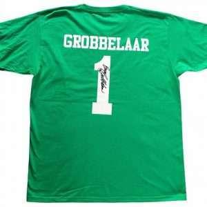 Bruce Grobbelaar Autographed Liverpool Goalkeeper signed T-Shirt