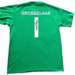 Bruce Grobbelaar Signed Liverpool Goalkeeper signed T-Shirt