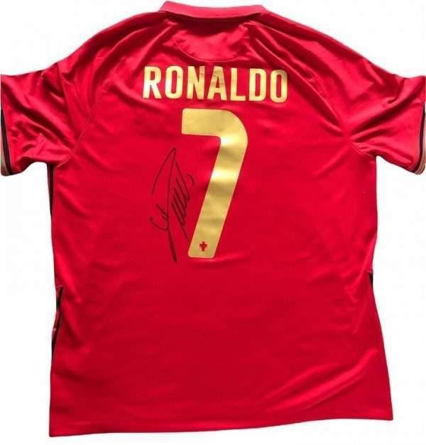 Cristiano Ronaldo Signed Portugal FC Football shirt