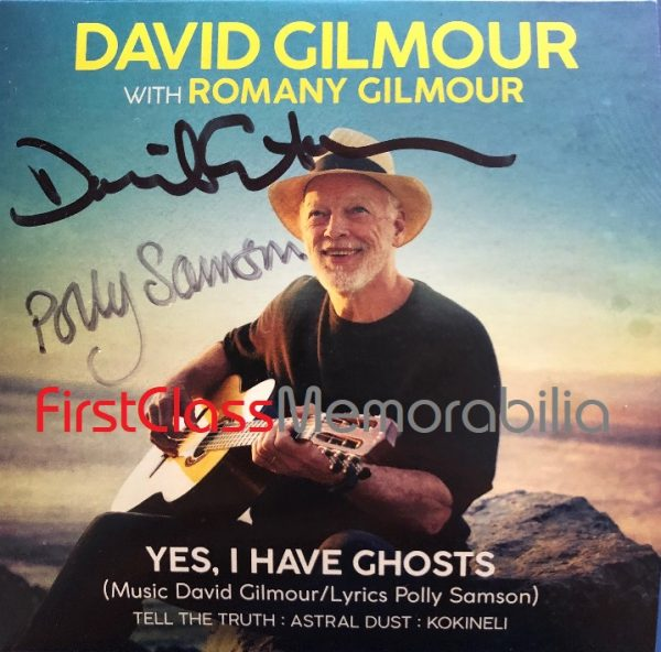 David Gilmour Polly Samson Signed CD Yes, I have Ghosts - Pink Floyd