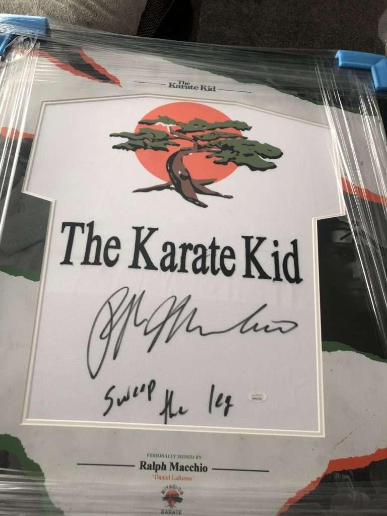 Ralph Macchio Autographed Karate Suit GI The Karate Kid Framed