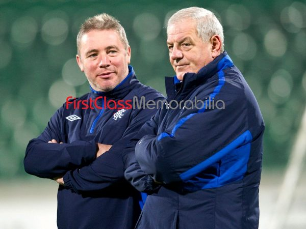 """Walter Smith Ally McCoist Rangers FC photograph 8x10"""" (Unsigned)"""