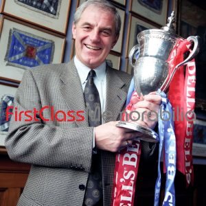 """Walter Smith Scottish Champions league trophy Rangers 12x8"""" (Unsigned)"""