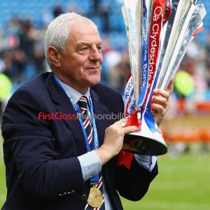 """Stunning Walter Smith trophy photograph Glasgow Rangers Manager 12x16"""" (Unsigned) matt quality photo. (Logo isn't presented on actual photo)"""