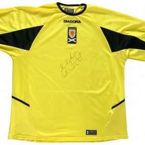 Allan McGregor Signed Scotland football shirt Goalkeeping legend