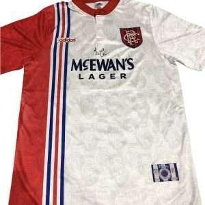 Ally McCoist Memorabilia 96-97 signed away Rangers shirt