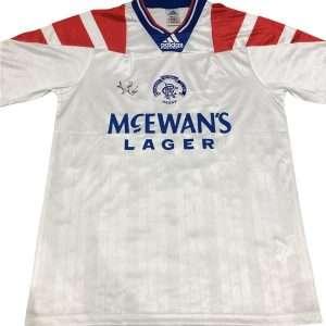 Ally McCoist signed 92-94 away Rangers FC shirt Autographed Memorabilia
