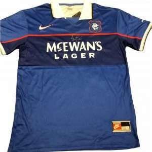 Ally McCoist signed Rangers 97-99 football shirt Nike home kit