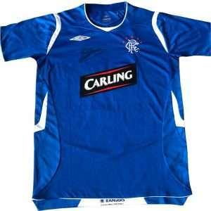 Barry Ferguson Rangers signed Football home shirt 08-09